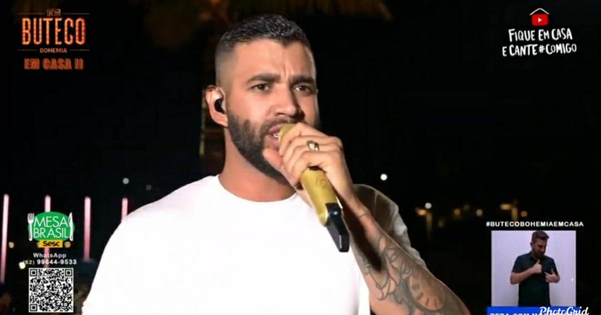 Gusttavo Lima volta atrás e anuncia nova live após suspender shows por polêmica com bebida
