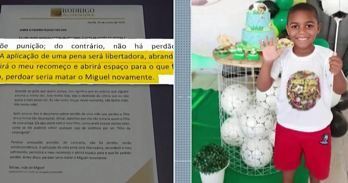 Mãe de menino morto ao cair de prédio no Recife desabafa: 'perdoar seria matar o Miguel novamente'