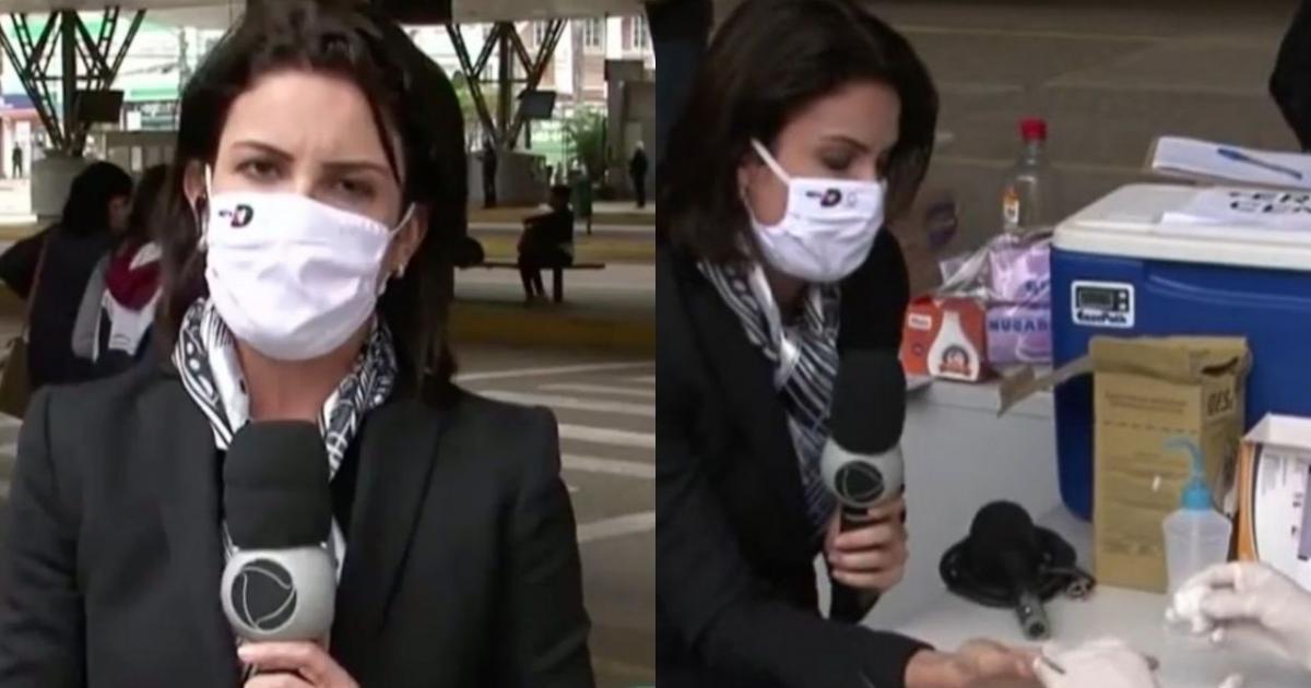 Repórter Kelly Borges, que realizou exame ao vivo e testou positivo para coronavírus, é isolada