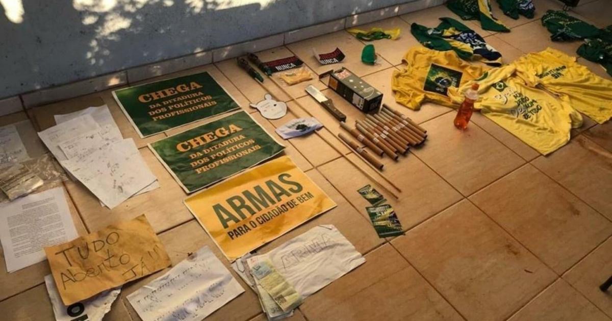 Polícia Civil realiza busca em chácara usada pelos '300 do Brasil'
