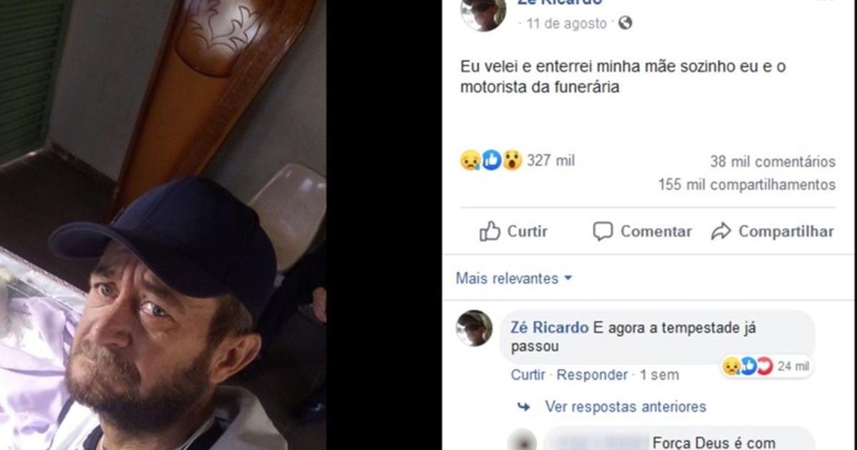 Homem que viralizou ao velar mãe sozinho morre após ter 80% do corpo queimado