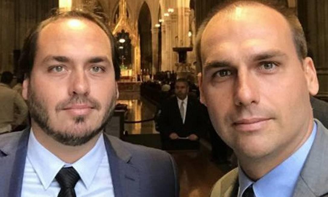 PF intima Carlos e Eduardo Bolsonaro para depor sobre atos antidemocráticos