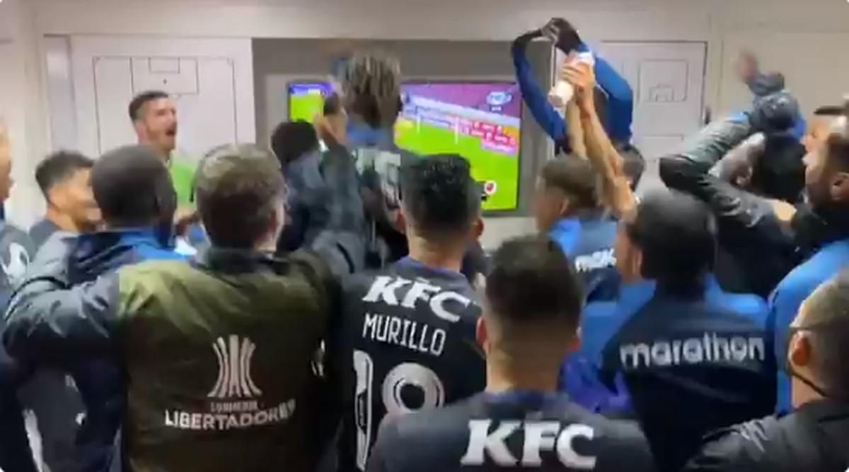 Jogadores do Del Valle vibram com gols sobre o Flamengo também no vestiário