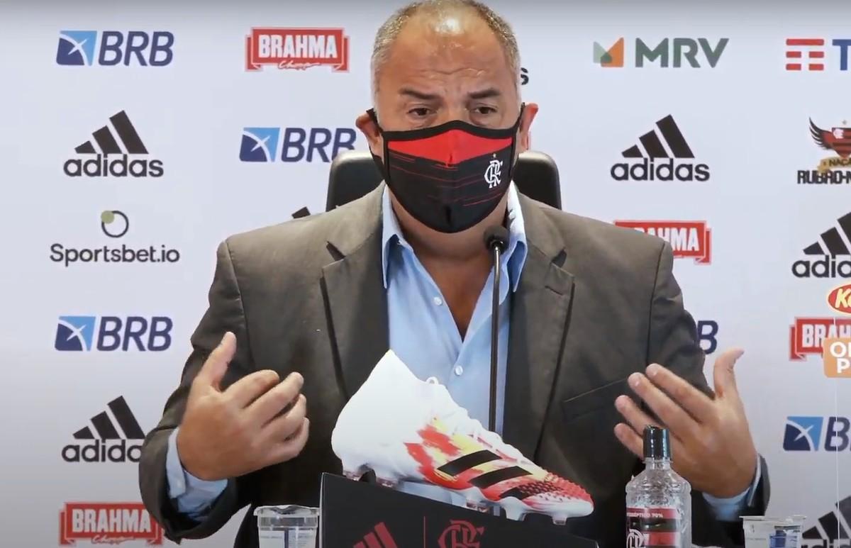 """Braz diz que Flamengo não discutiu saída de Dome: """"Em nenhum momento foi pensada"""""""