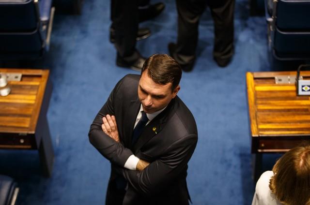 Pedido de cassação de Flávio Bolsonaro está parado no Senado há sete meses | Lauro Jardim – O Globo