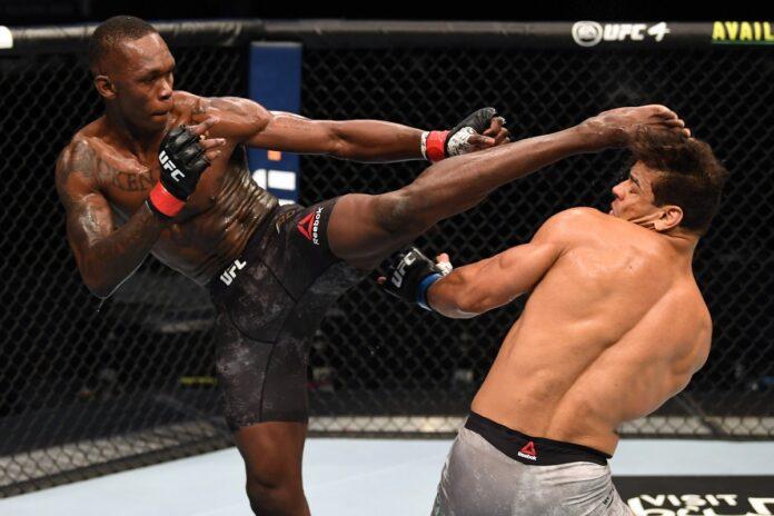 Com domínio absoluto, Israel Adesanya nocauteia Paulo Borrachinha no UFC 253