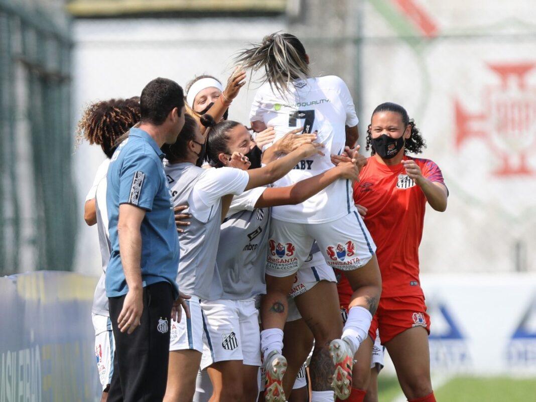 Santos abre 3 a 0 com 22 minutos de jogo e goleia a Ponte Preta no Brasileiro Feminino; veja gols