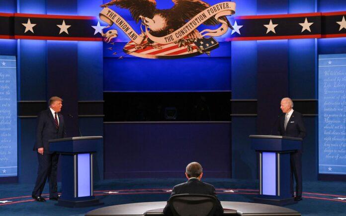 Em debate confuso, Trump e Biden trocam acusações pessoais e expõem discordâncias